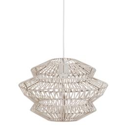 Hanglamp Ø40x27,5 cm FLAME leer naturel