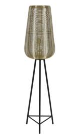 Vloerlamp Ø37x147 cm ADETA goud+mat zwart