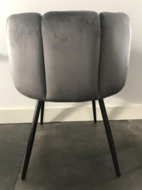 High Five Velvet Chair Grey/Taupe