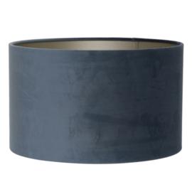 Kap cilinder 40-40-30 cm VELOURS dusty blue