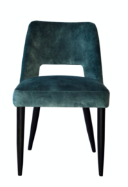 Jip dining chair no arm wood Adore 158 Petrol PTMD Collection
