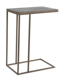 Bijzettafel 45x30x62 cm CHISA hout zwart-ant brons