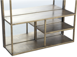 Delilah Gold metal mirror storage frame rectangle-PTMD Collection