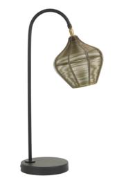 Tafellamp 27x20x61 cm ALVARO antiek brons+mat zwart