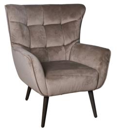 PTMD Kian velvet fauteuil zand