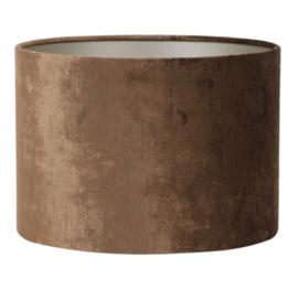 Kap cilinder 30-30-21 cm GEMSTONE bruin