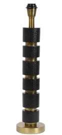 Lampvoet Ø14x54 cm AZOYU mat zwart+antiek brons