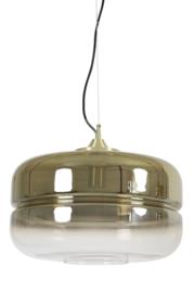 Hanglamp Ø40x25,5 cm CHERLE glas goud+mat goud