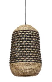 Hanglamp Ø37,5x58 cm TRIPOLI rotan naturel+zwart