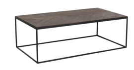 Salontafel 120x65x40 cm CHISA hout bruin-zwart