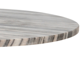 Gemma Champagne alu sidetable marble top round