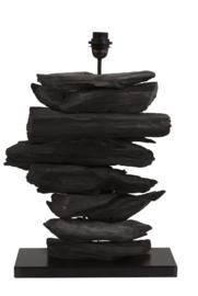 Lampvoet 46x17x60 cm FURY hout mat zwart