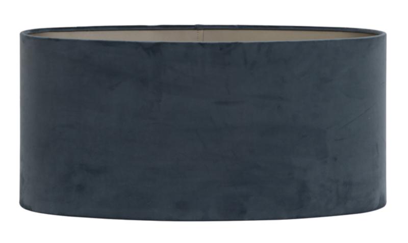 Kap ovaal recht smal 45-21-22 cm VELOURS dusty blue