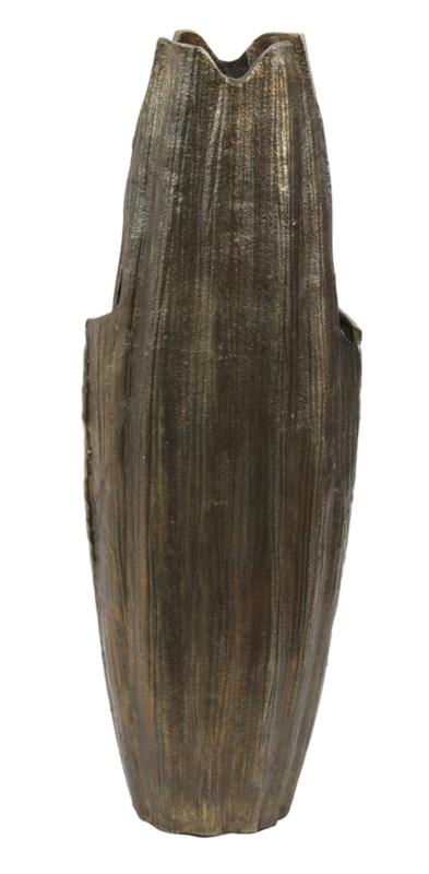 Vaas deco 18x13x51 cm JUBILE antiek brons