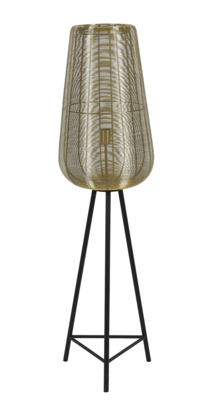 Vloerlamp Ø37x135 cm ADETA goud+mat zwart