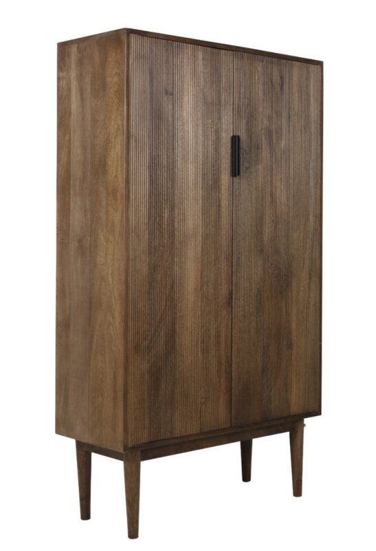 Kast 100x40x170 cm BITIKA hout donker bruin