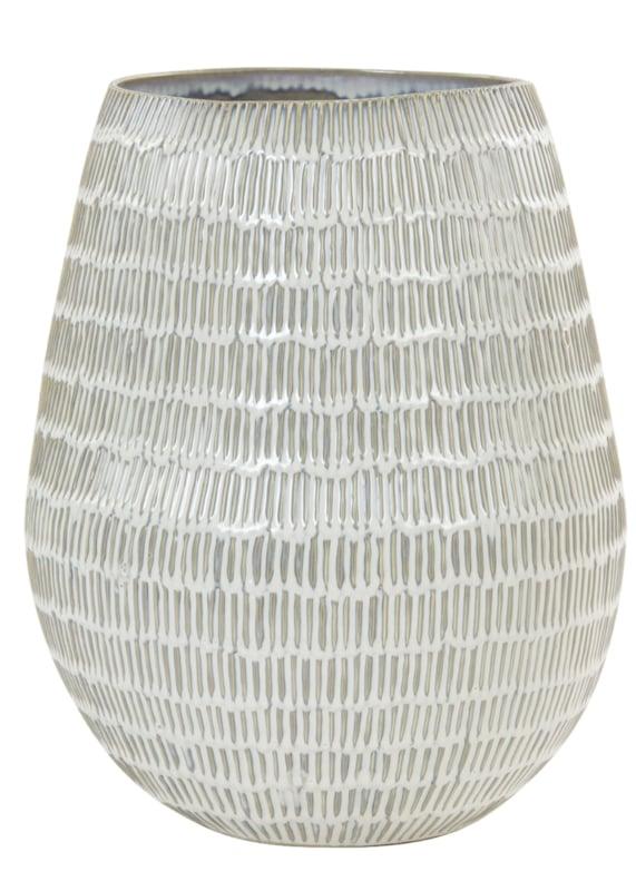 Vaas Ø32x39,5 cm GIORGIA keramiek crème-beige
