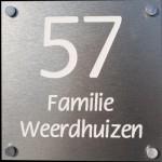 Aluminium naambord Artnr.bg-31 (12x12)