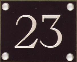 Gravoglas nummerplaat art nr. 4601