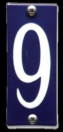 Emaille nummer 9 koppelbaar