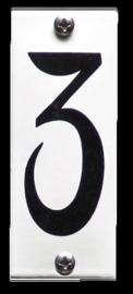Emaille nummer 3 koppelbaar