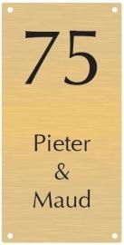 Messing naambord vanaf 6x12 cm