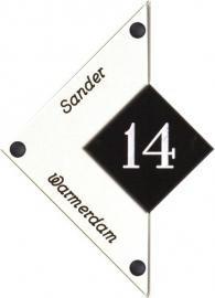 Perspex naambord 15 x 21 cm