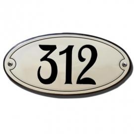 Emaille artnr. HG-21 (10x5 cm) type rand & kader