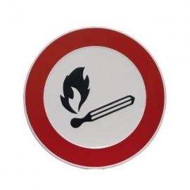 Aluminium artnr.GA013/GA014 Verboden vuur
