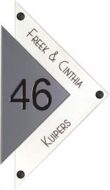 Perspex naambord 16.5x28 cm