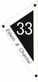 Perspex naambord 16,5x36 cm