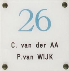 Gravoglas naamplaat art nr. 4513
