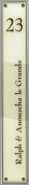 Perspex naamplaat 65,5x10 cm