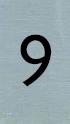 Aluminiumlook nummerbordje 9