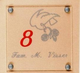 Gravoglas naamplaat art nr. 4602