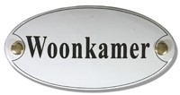 Emaille artnr. NS-1026 (10x5 cm) type woonkamer