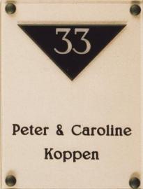 Gravoglas naamplaat art nr. 4401