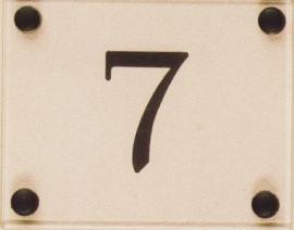 Gravoglas nummerplaat art nr 4601