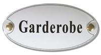 Emaille artnr. NS-1008 (10x5 cm) type Garderobe