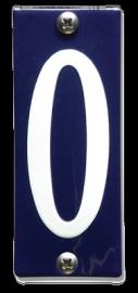 Emaille nummer 0 koppelbaar