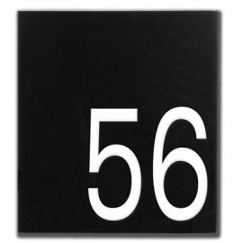 Emaille huisnummer artnr. HR-52 (16x18 cm)