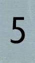 Aluminiumlook nummerbordje 5