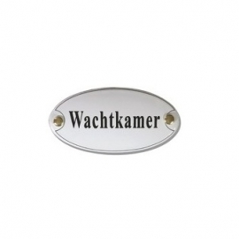 Emaille artnr. NS-1023 (10x5 cm) type wachtkamer