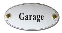 Emaille artnr. NS-1007 (10x5 cm) type Garage