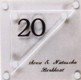 Gravoglas naamplaat art nr. 4206