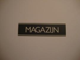Kunststof bordje artnr.12057 MAGAZIJN