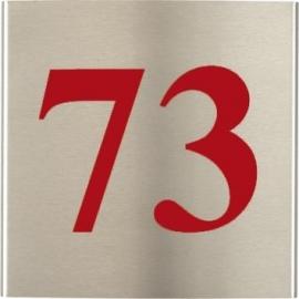 RVS Naamplaat gebogen art nr. 1001 (15x15)
