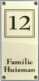 Perspex naamplaat 33,5x11 cm