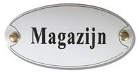 Emaille artnr. NS-1014 (10x5 cm) type Magazijn