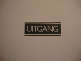 Kunststof bordje artnr.12054 UITGANG